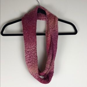 Knit Circle Infinity Scarf in Pink & Purple